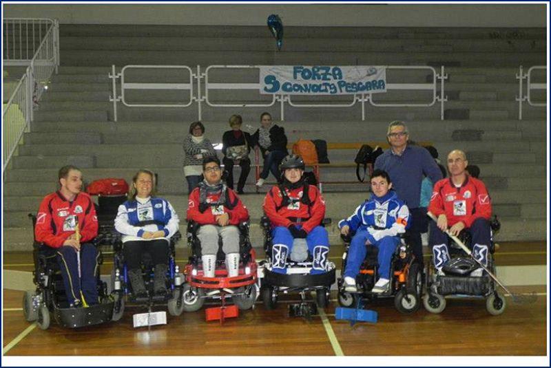 Riecco il wheelchair hockey tornano gli sconvolts for Magri arreda pescara